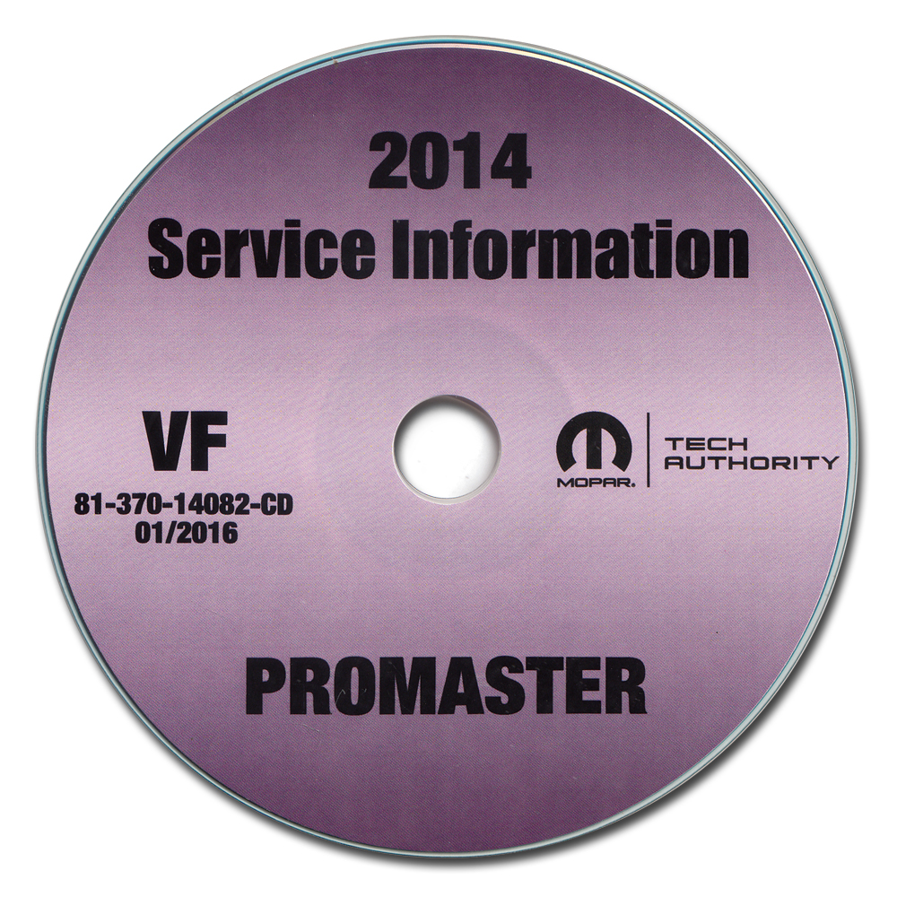 2014 Ram Promaster Repair Shop Manual CD-ROM Dodge 1500 2500 3500
