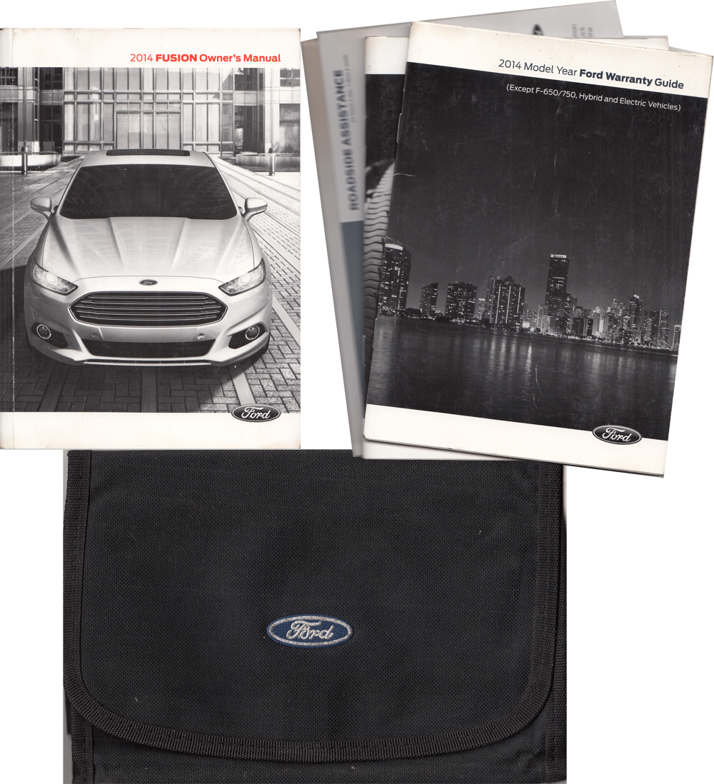 2014 Ford Fusion Gas Powered Owner's Manual Package with Case & Pamphlets Original