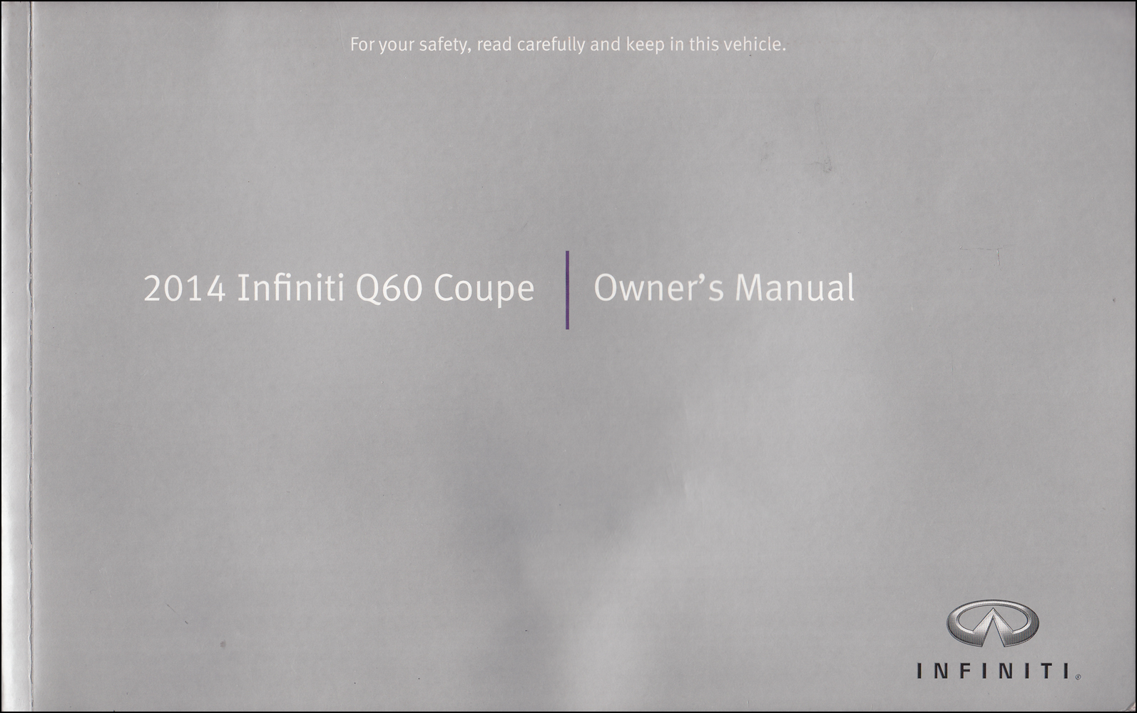 2014 Infiniti Q60 Coupe Owner's Manual Original