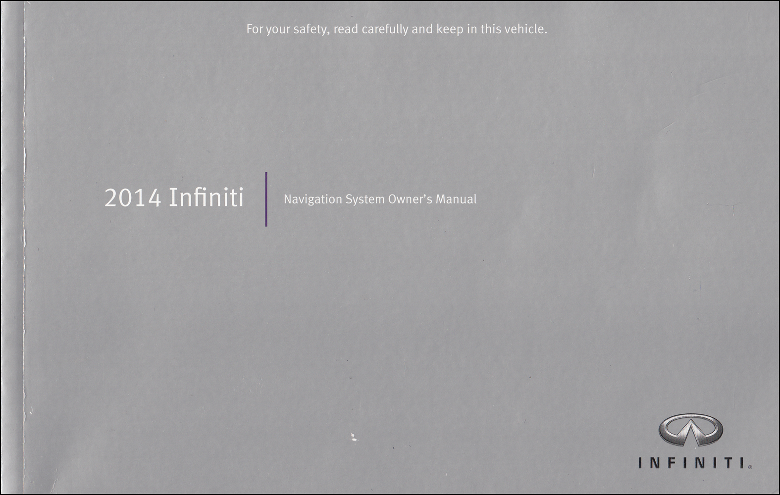 2014 Infiniti Navigation System Owner's Manual Original