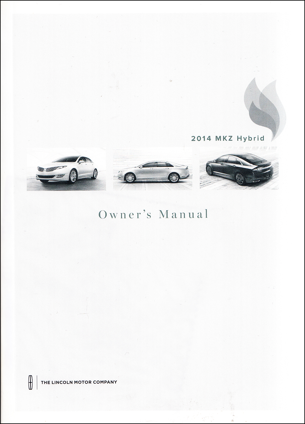 2014 Lincoln MKZ Hybrid Owner's Manual Original