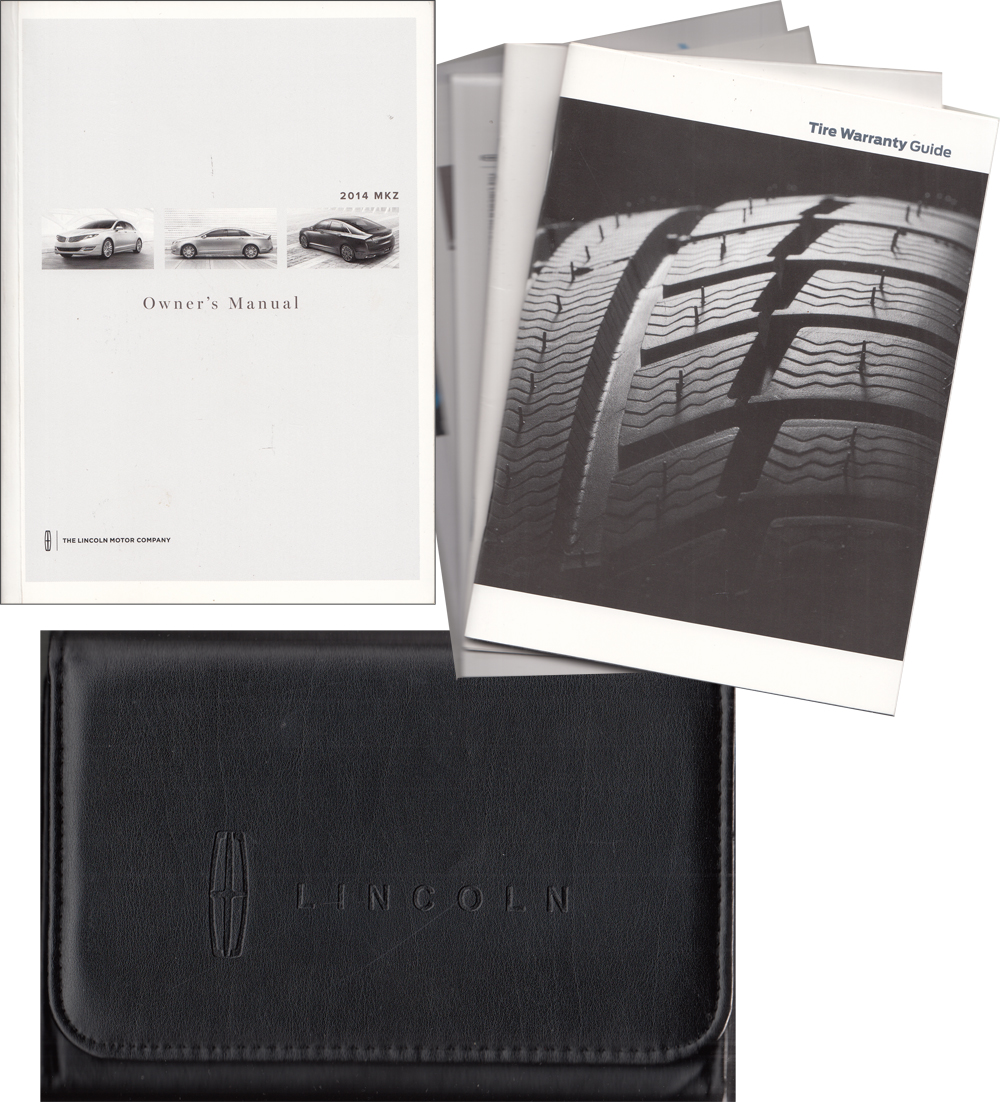2014 Lincoln MKZ Owner's Manual Package with Case & Pamphlets Original - Gas