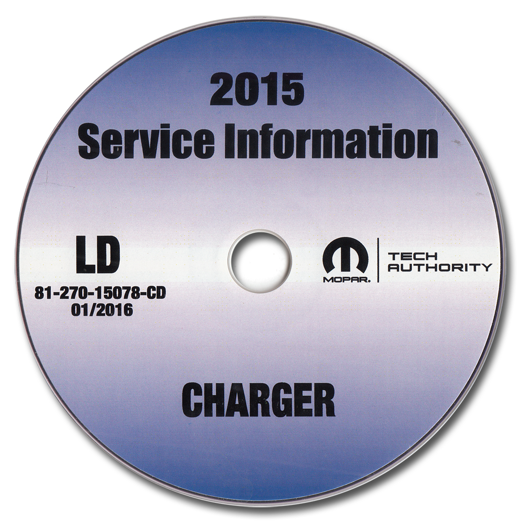 2015 Dodge Charger Repair Shop Manual CD-ROM