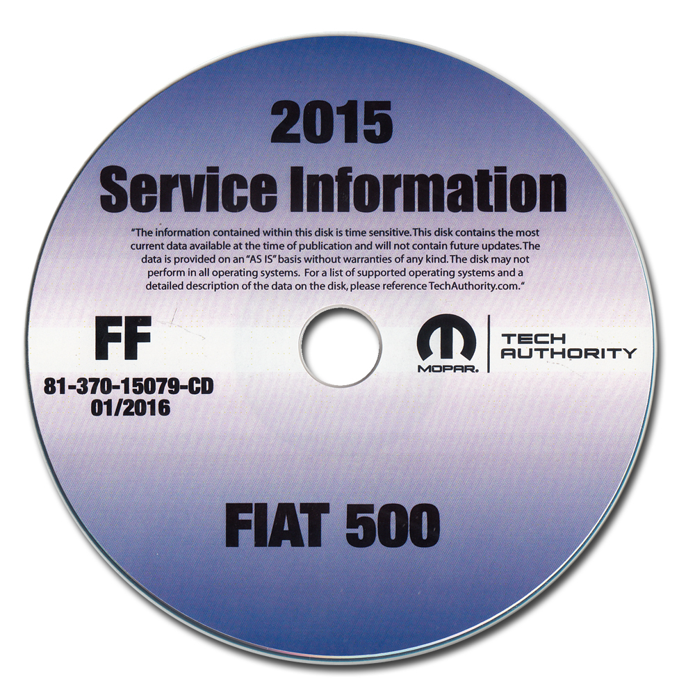 2015 Fiat 500l Repair Shop Manual Cd