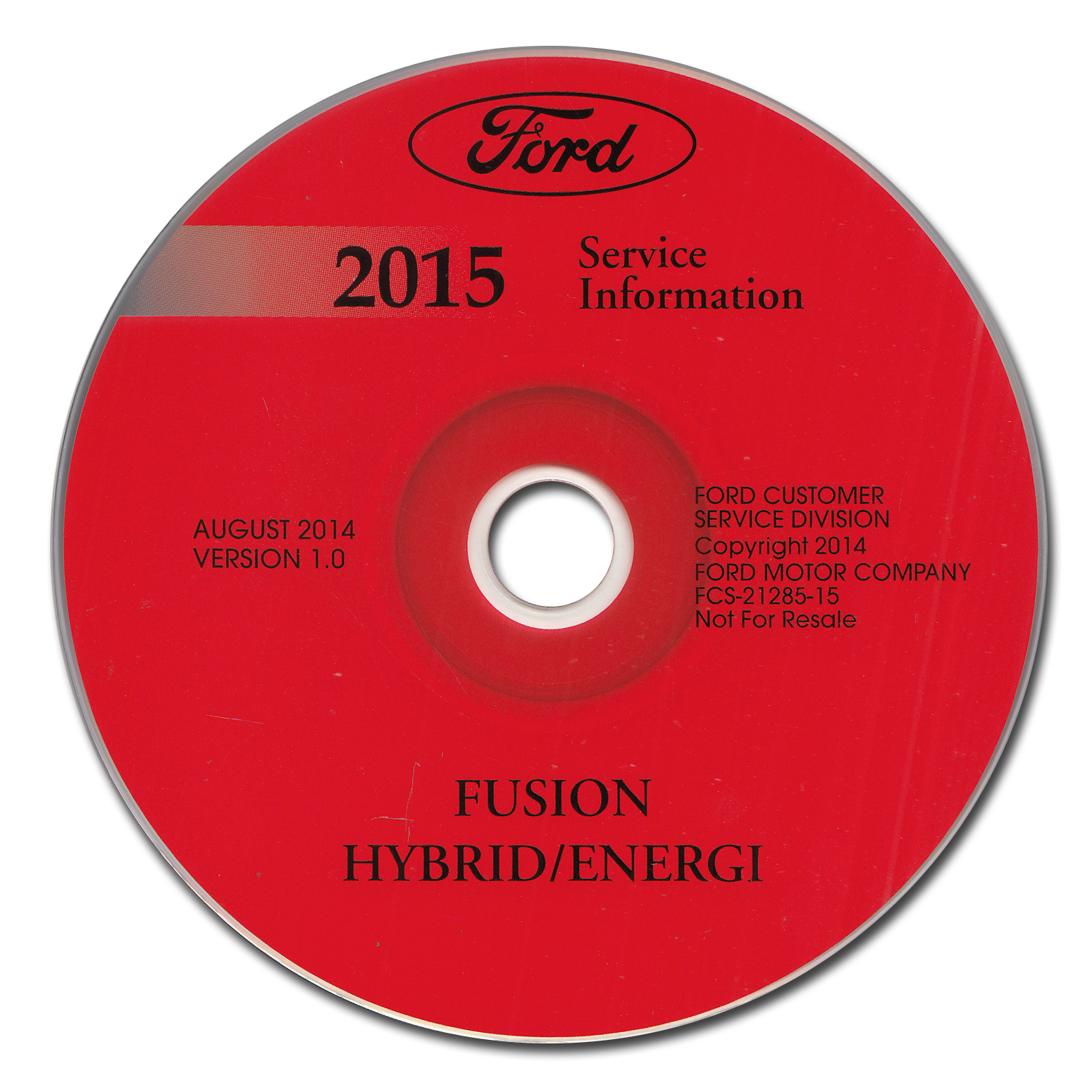 2015 Ford Fusion Energi Hybrid Lincoln MKZ HYBRID Repair Shop Manual on CD-ROM Original