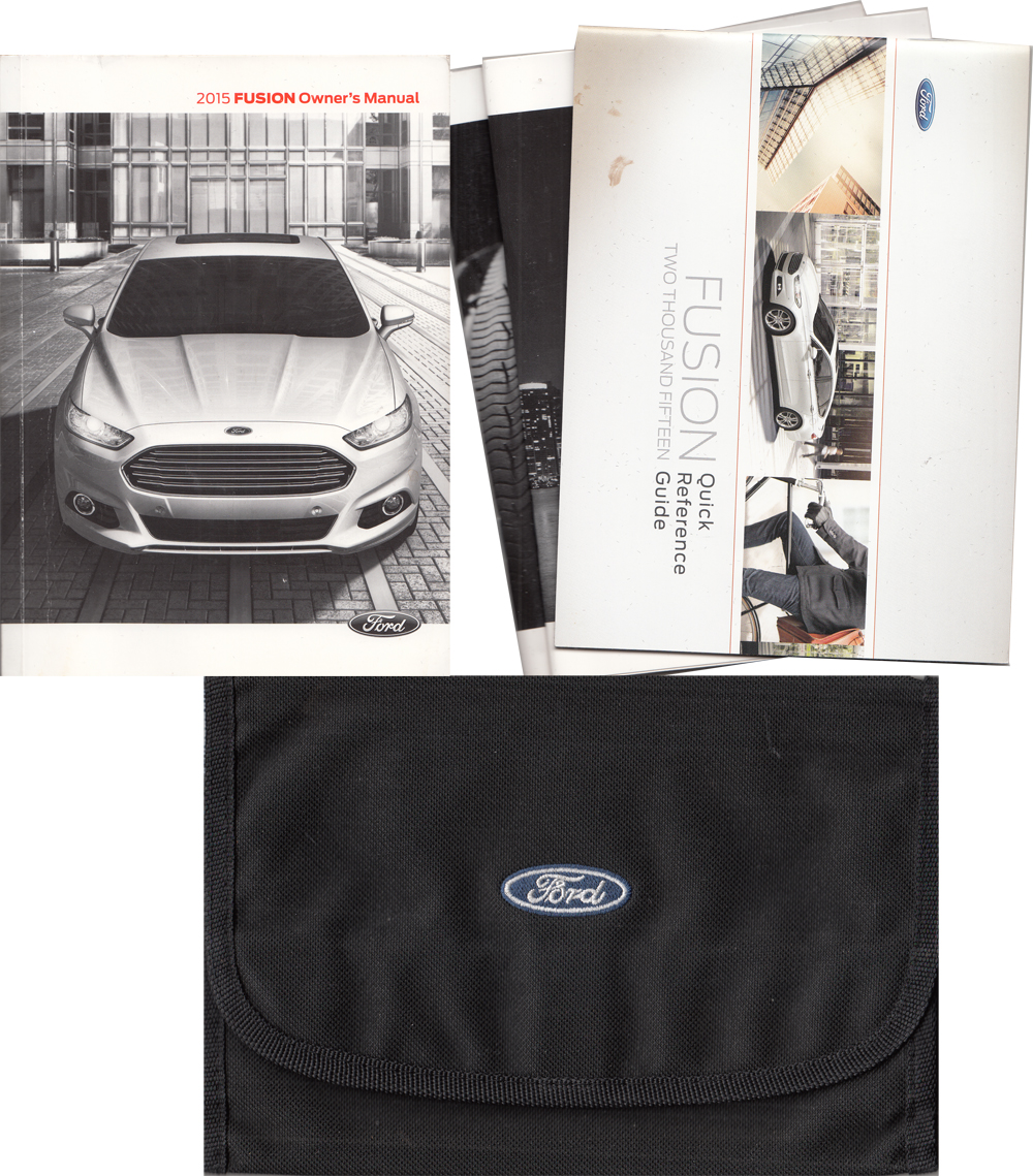 2015 Ford Fusion Owner's Manual Original With Case and Pamphlets