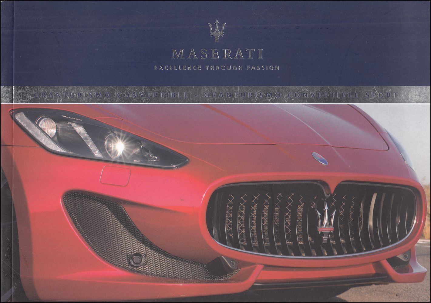 2015 Maserati GranTurismo Convertible Owner's Manual Original