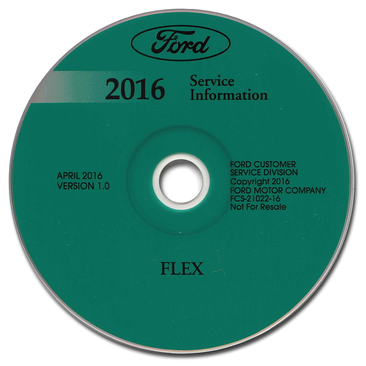 2016 Ford Flex Repair Shop Manual on CD-ROM Original