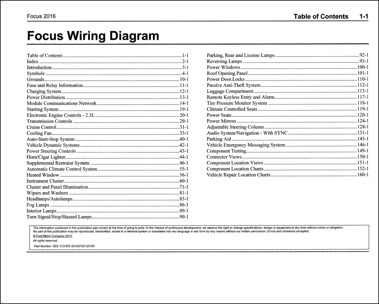 2016 Ford Focus Rs Wiring Diagram Manual Original