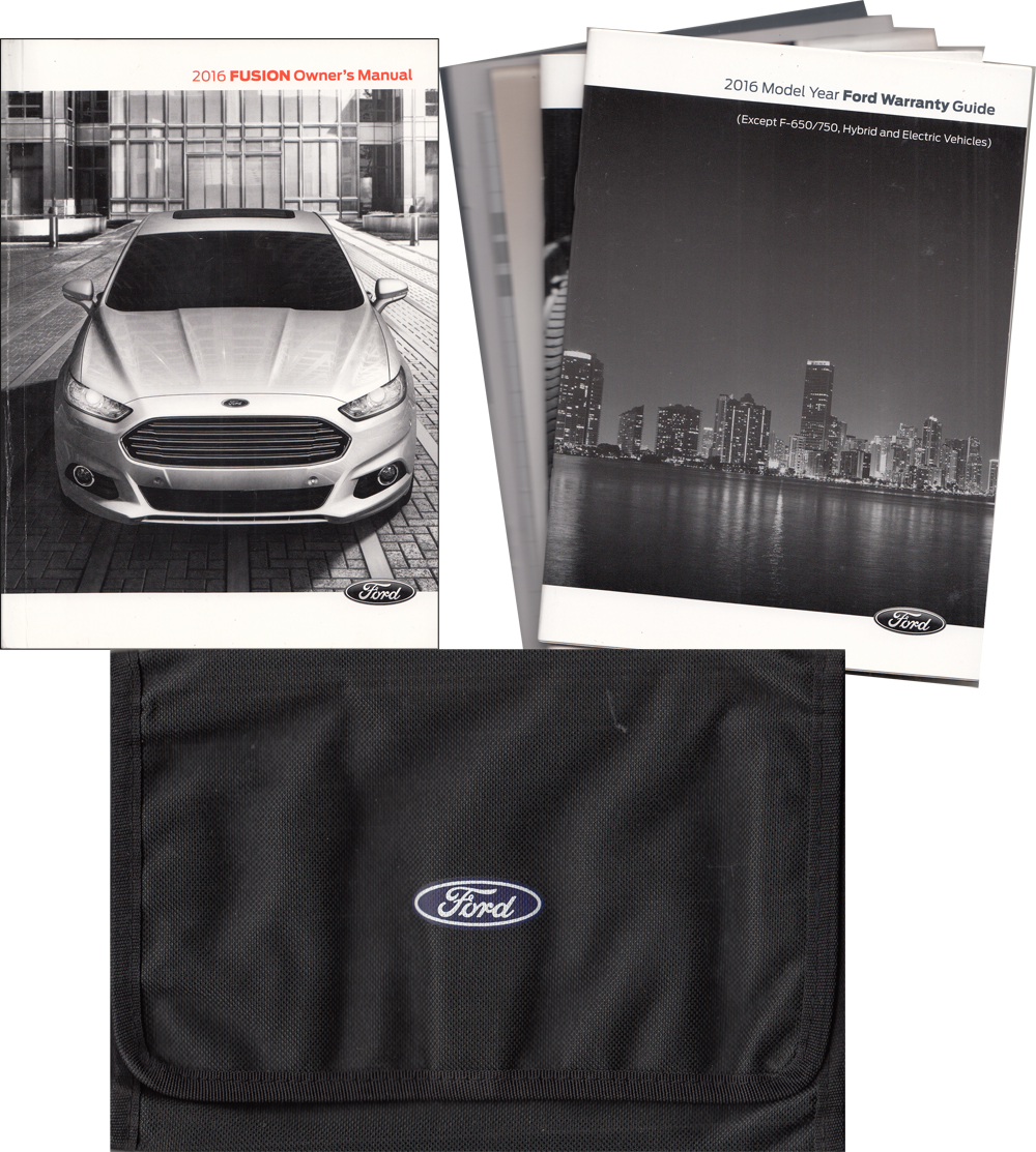 2016 Ford Fusion Owner's Manual Original With Case and Pamphlets