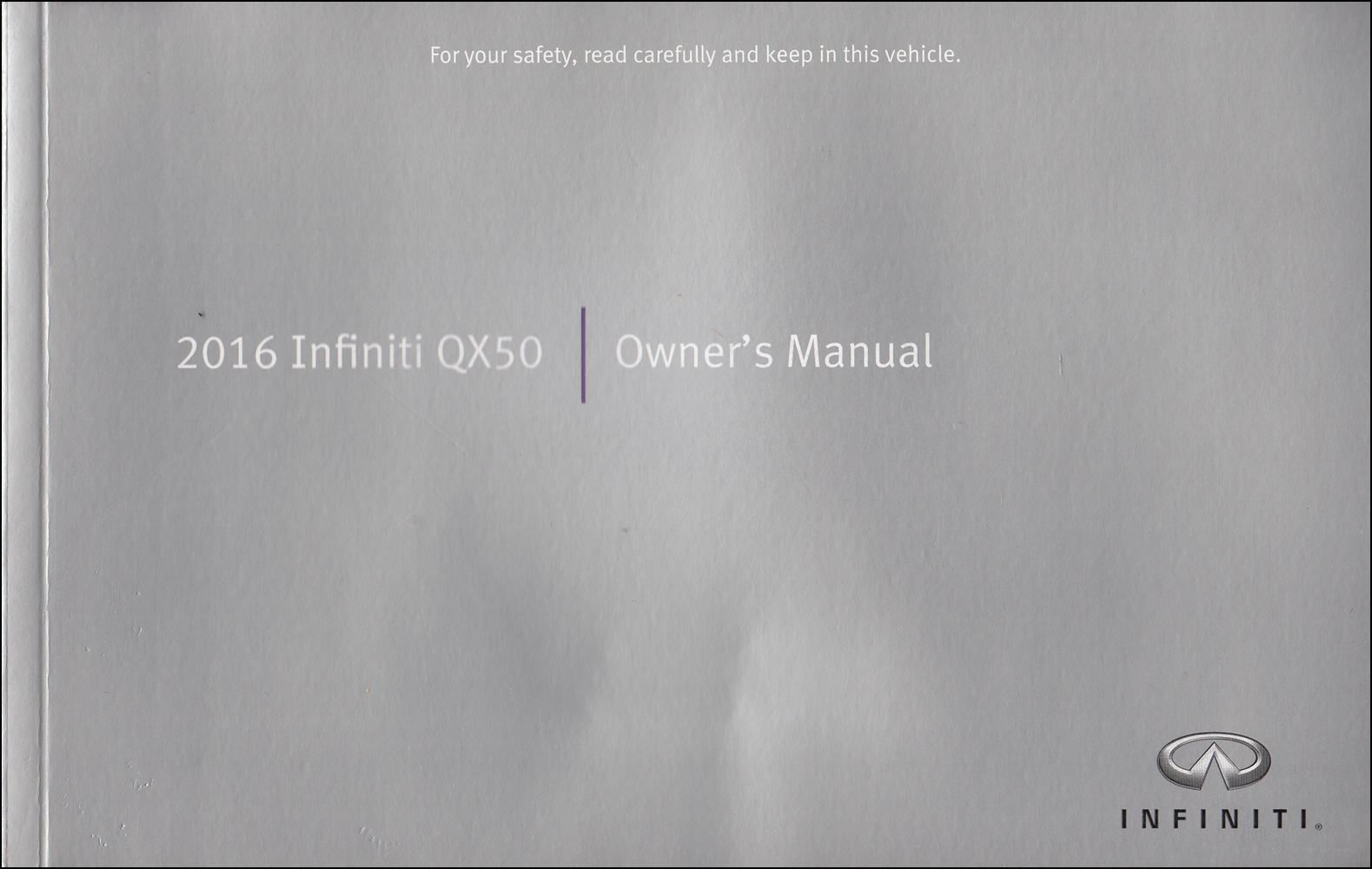 2016 Infiniti QX50 Owner's Manual Original