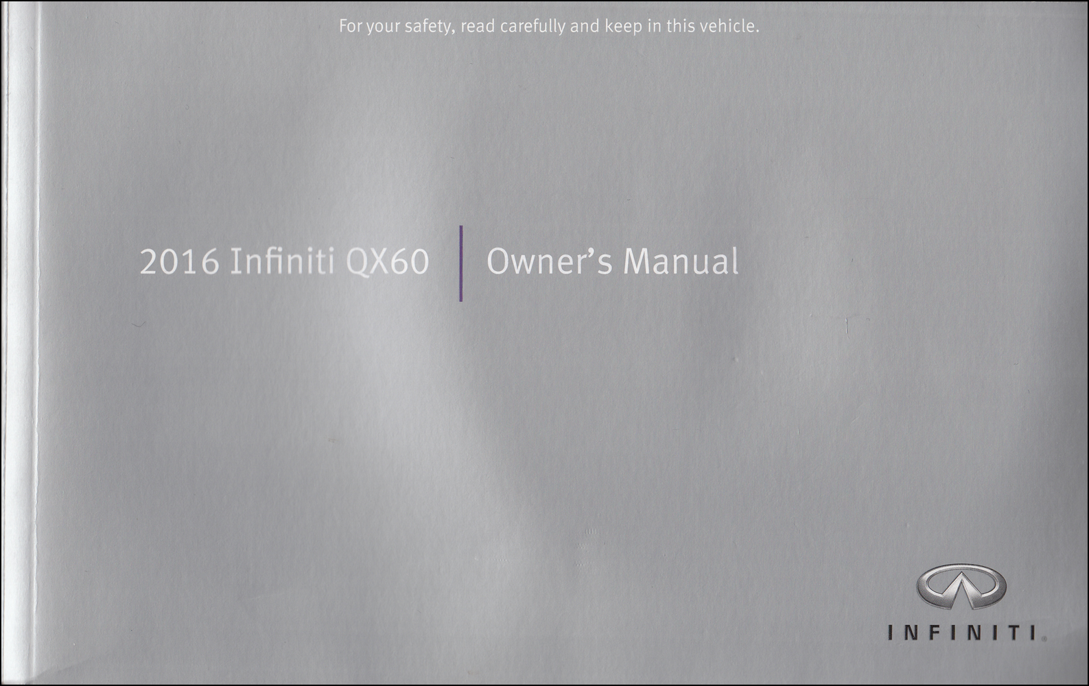 2016 Infiniti QX60 Owner's Manual Original