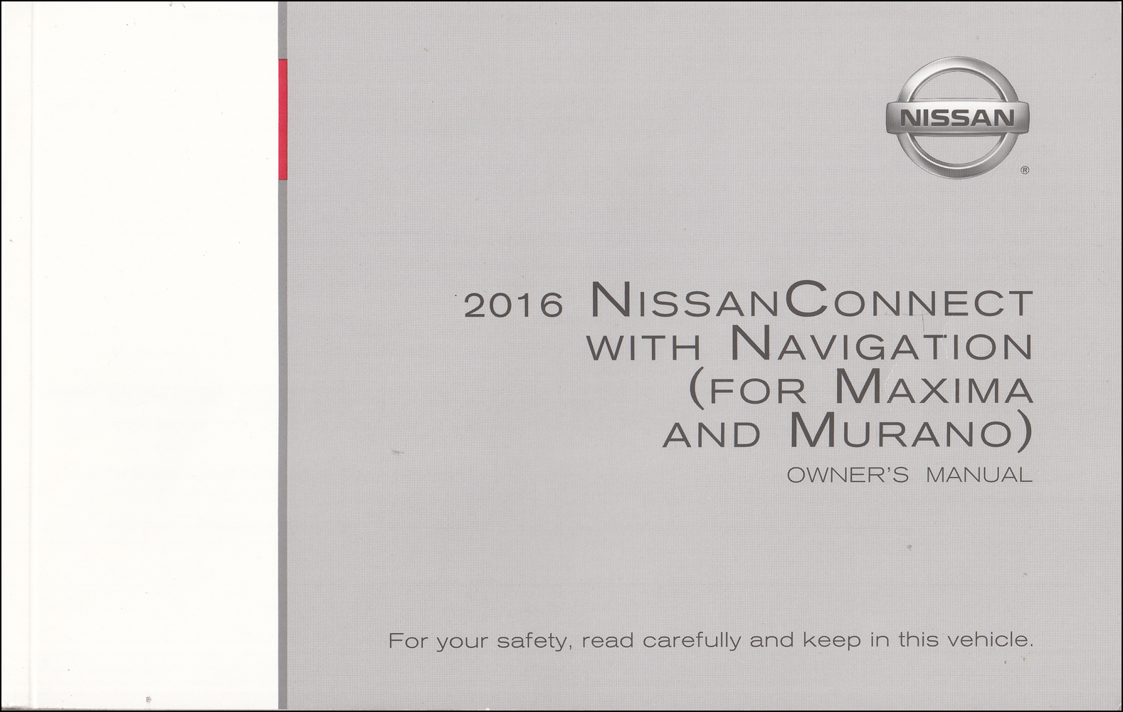 2016 Maxima & Murano Nissan Connect Navigation System Owners Manual Original