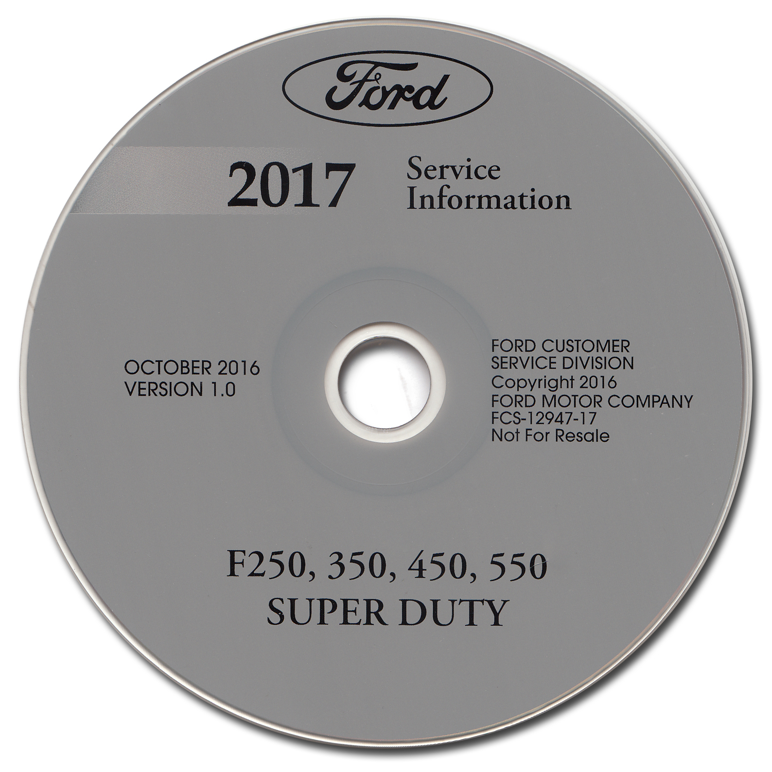 2017 Ford F250-F550 Super Duty Repair Shop Manual on CD-ROM Original