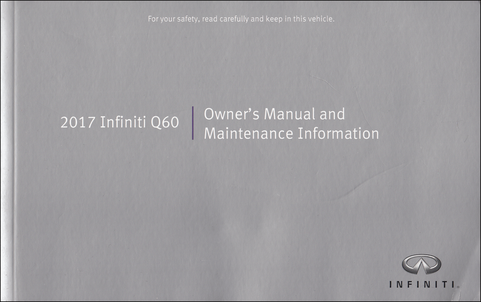 2017 Infiniti Q60 Owner's Manual Original