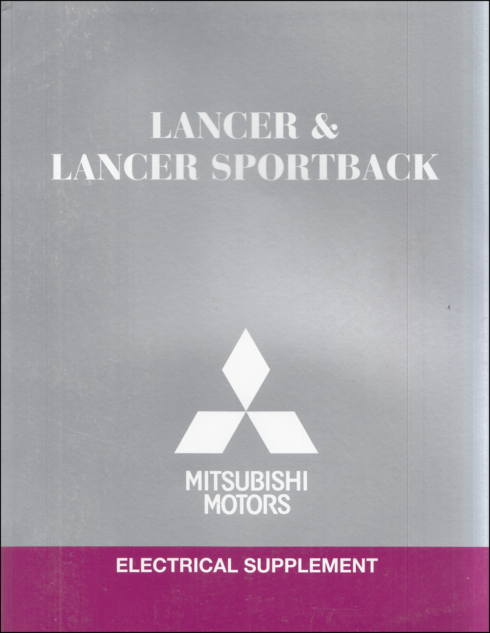 2017 Mitsubishi Lancer & Lancer Sportback Wiring Diagram Manual Original