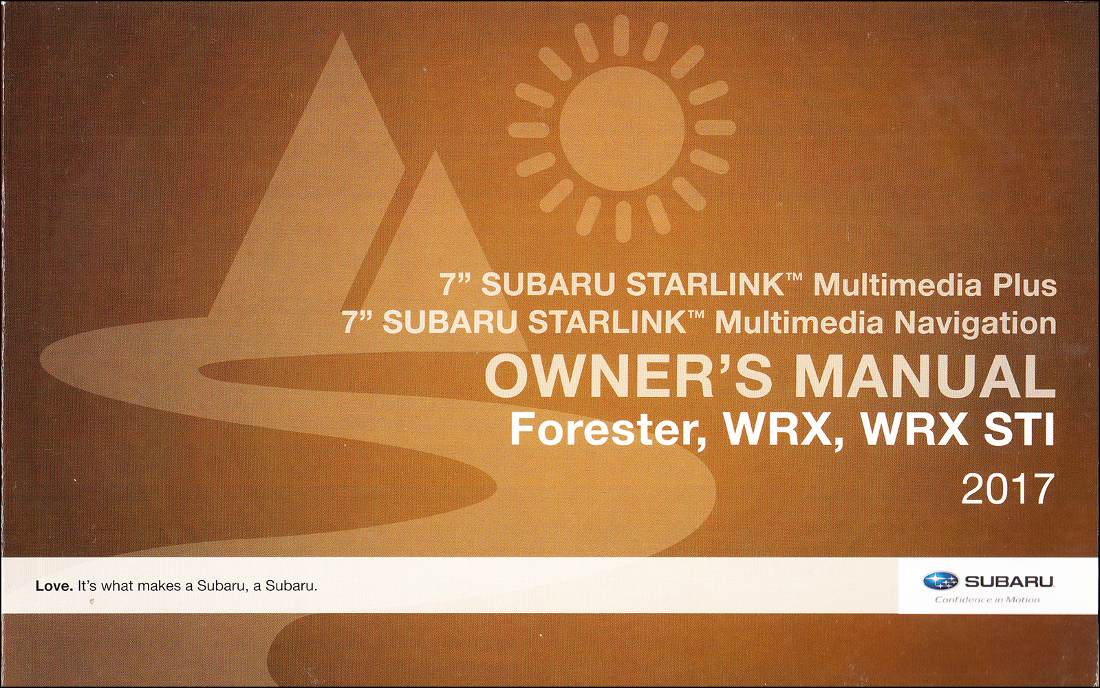 2017 Subaru Forester, WRX, WRX STI Starlink Navigation & Multimedia System Owner's Manual Original