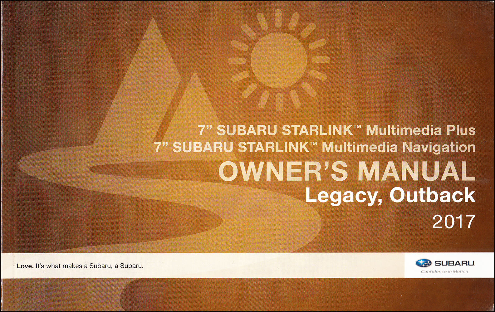 2017 Subaru Legacy / Outback Starlink Navigation & Multimedia System Owner's Manual Original