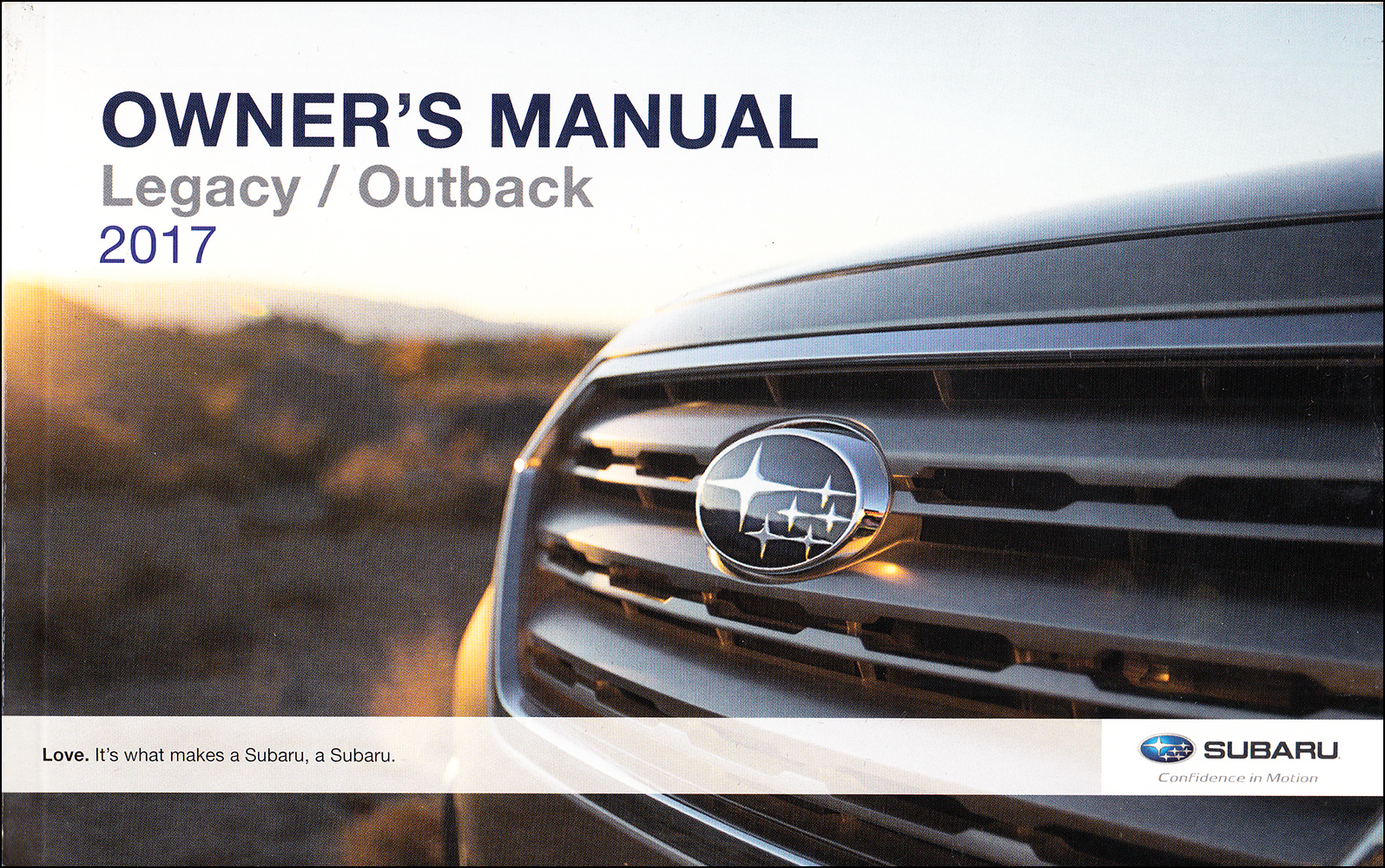 2017 Subaru Legacy and Outback Owner's Manual Original
