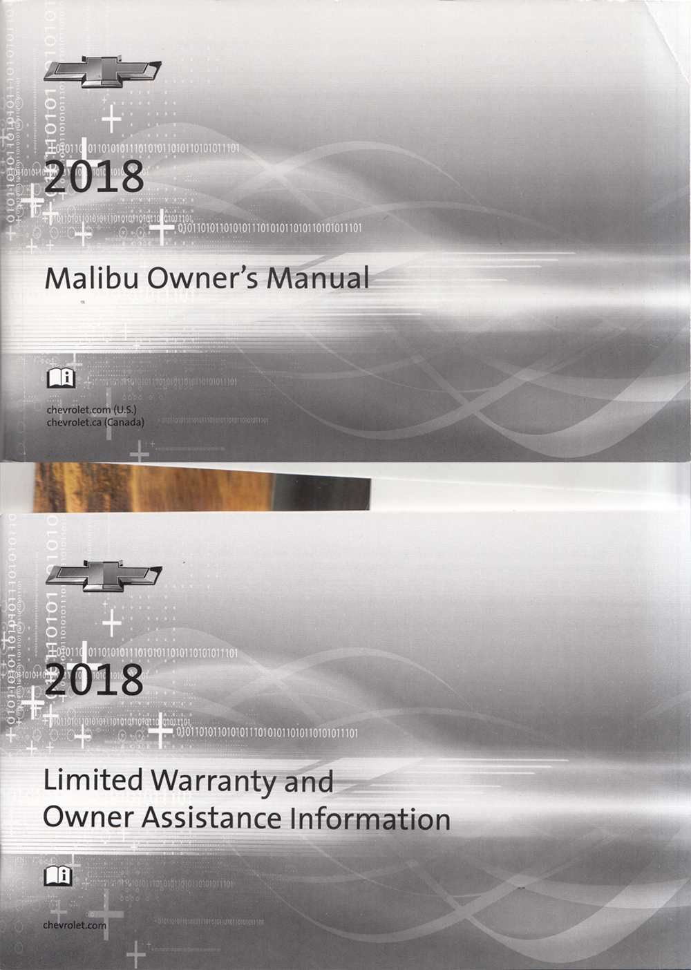 2018 Chevrolet Malibu Owners Manual with Pamphlets Original