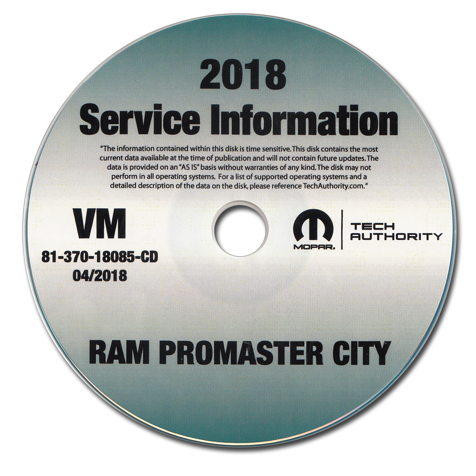 2018 Ram Promaster City Repair Shop Manual CD-ROM Dodge