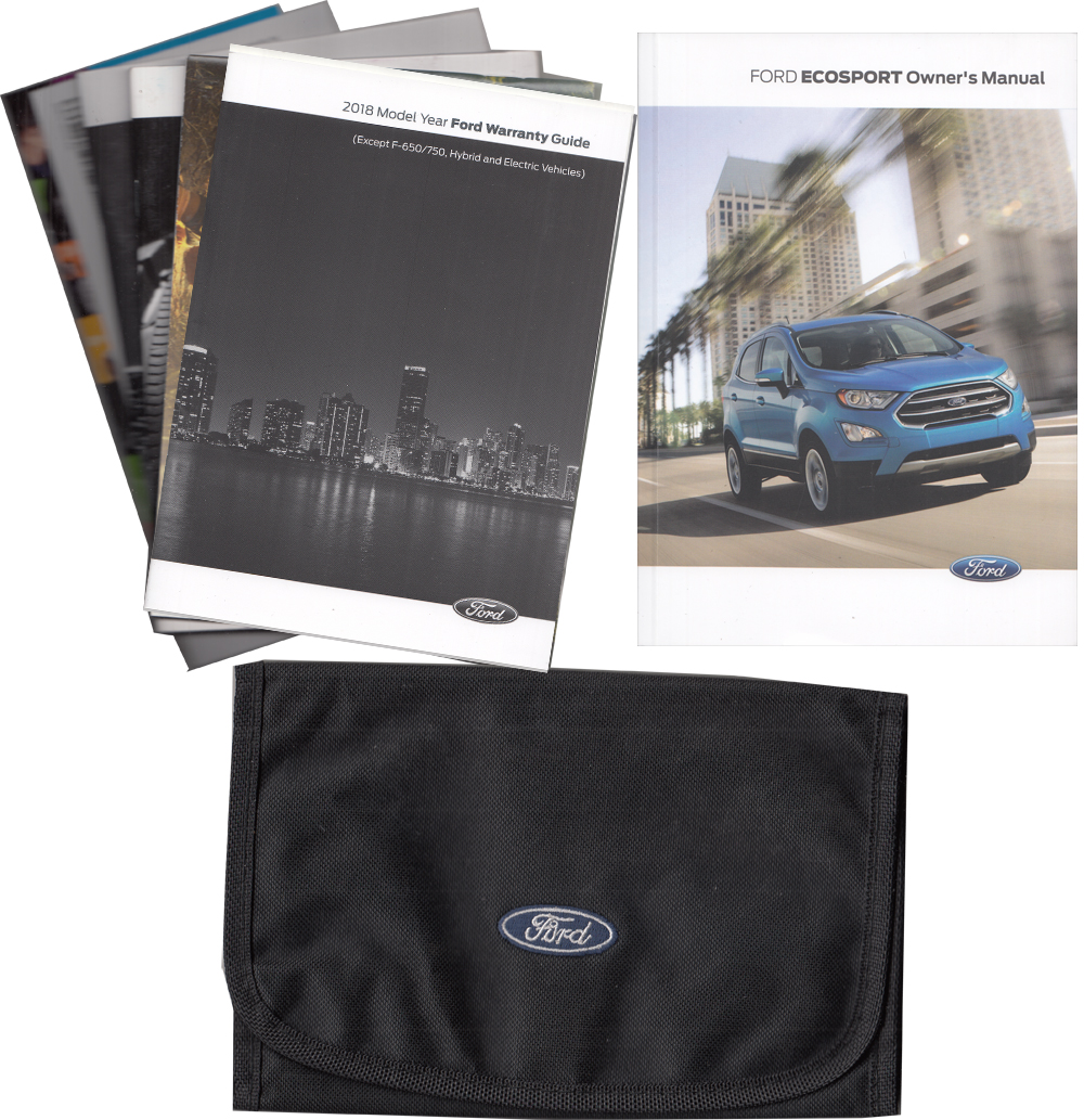 2018 Ford EcoSport Owner's Manual Package with Case Original