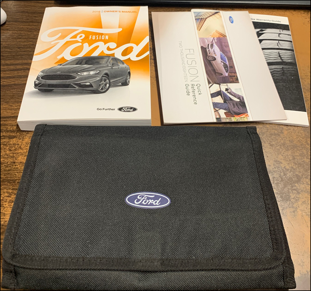 2018 Ford Fusion Owner's Manual Original Package - Gas