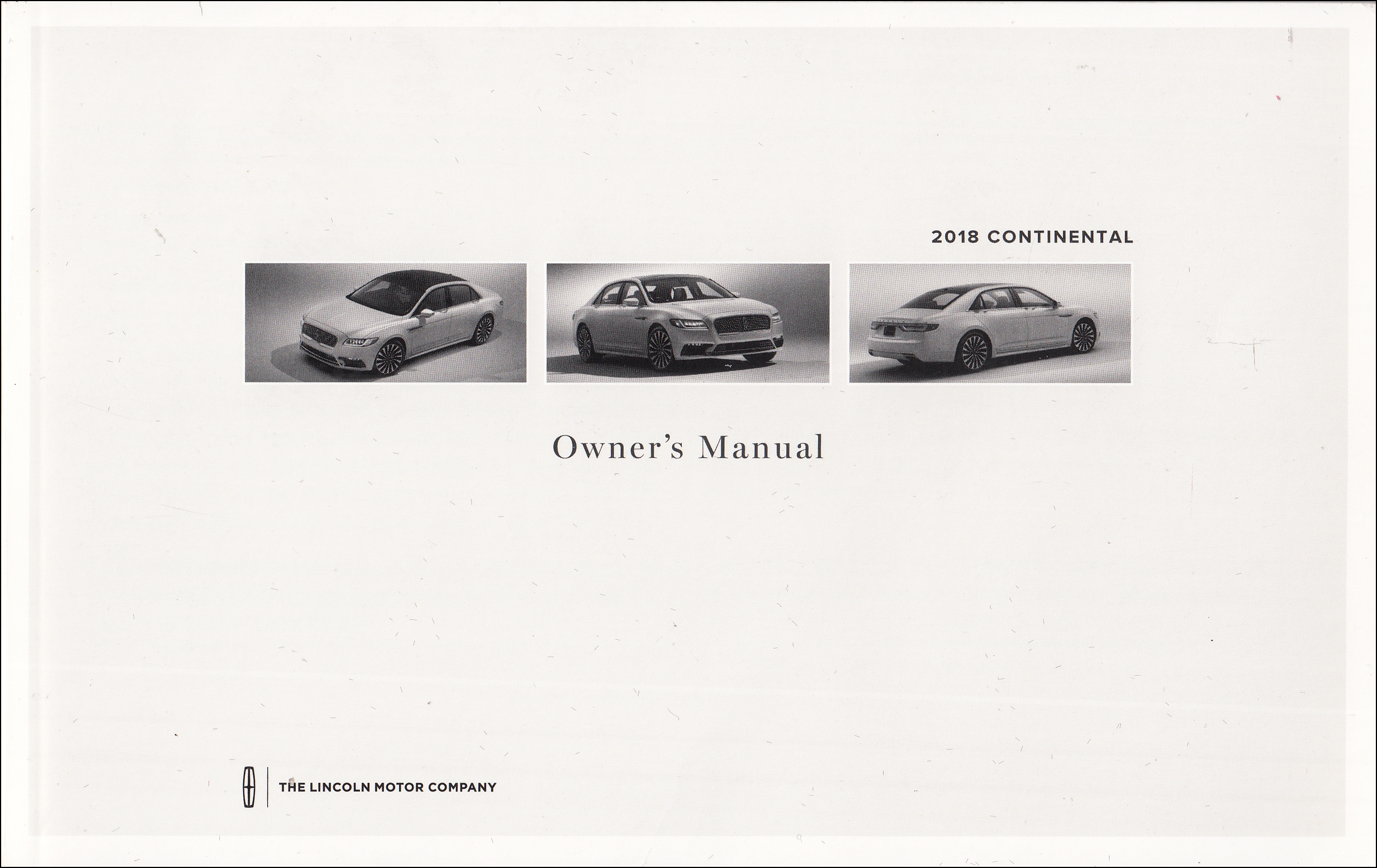 2018 Lincoln Continental Owner's Manual Original
