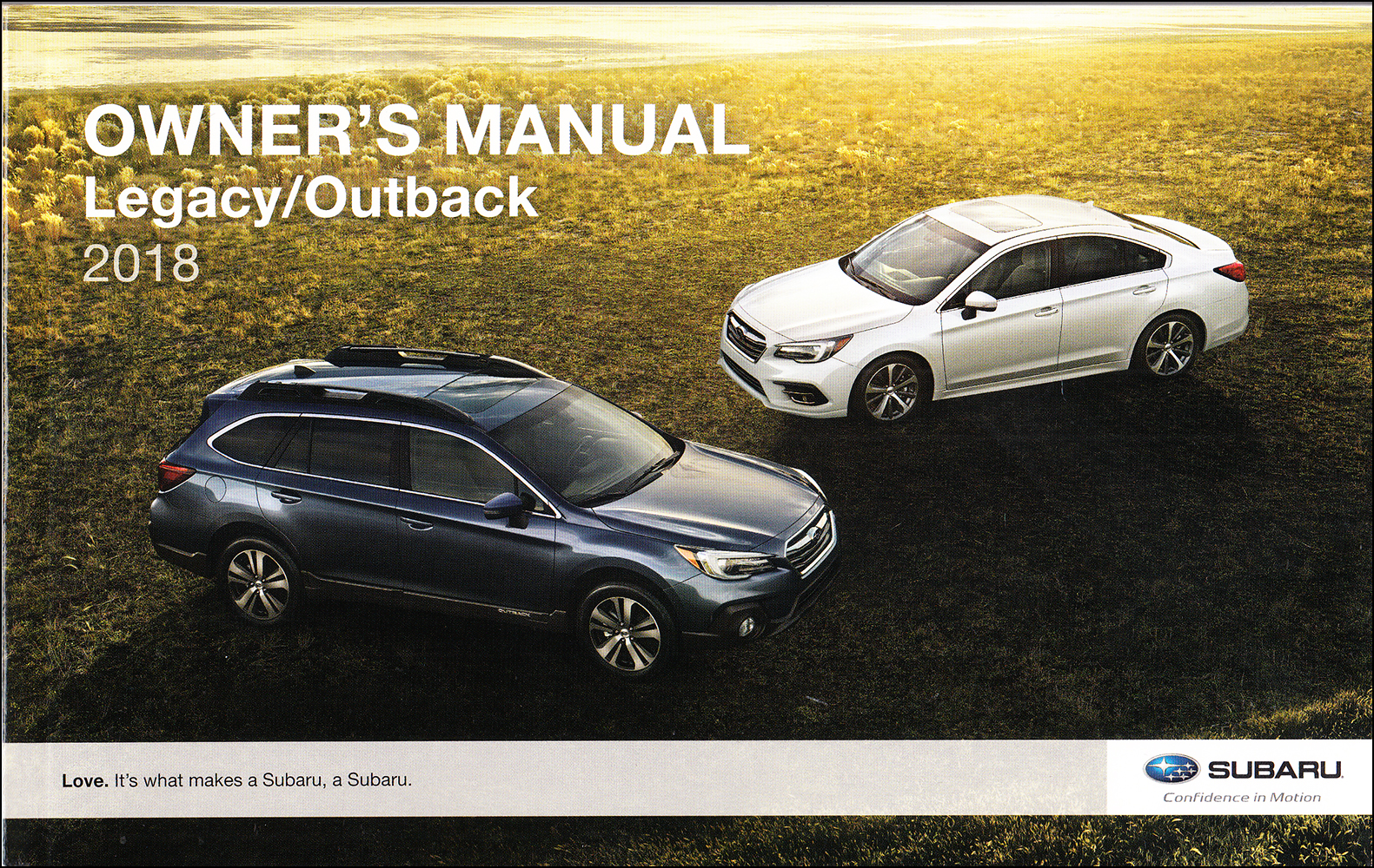 2018 Subaru Legacy and Outback Owner's Manual Original