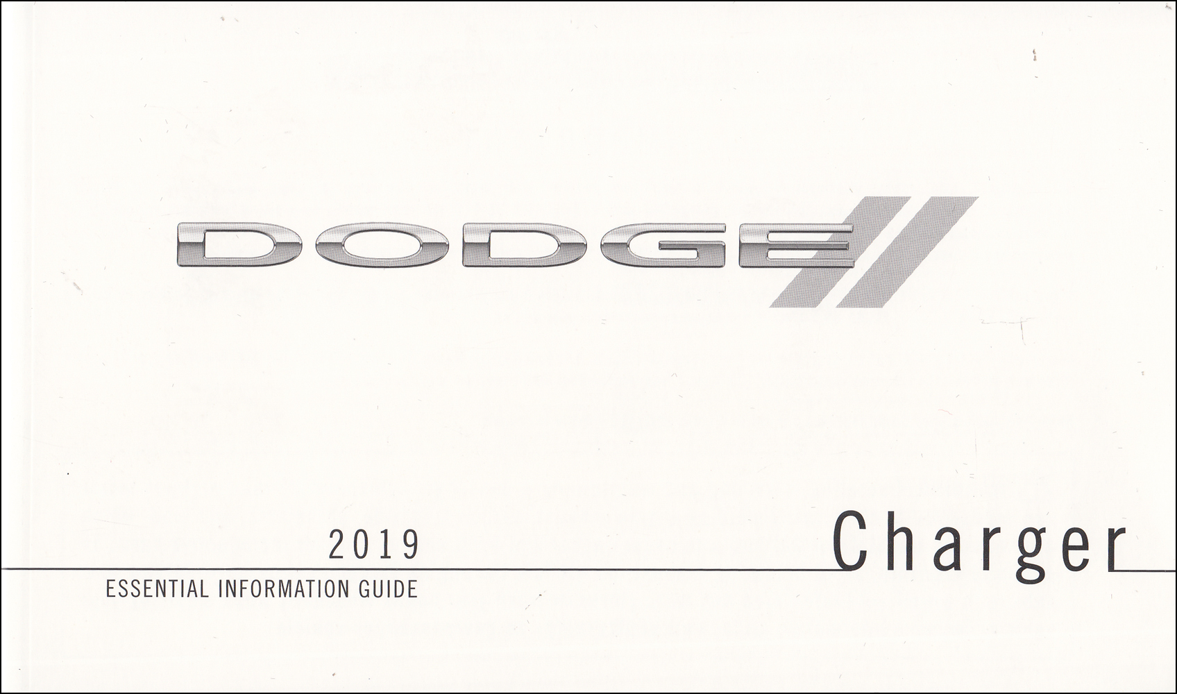 2019 Dodge Charger Essential Information Guide Owner's Manual Original
