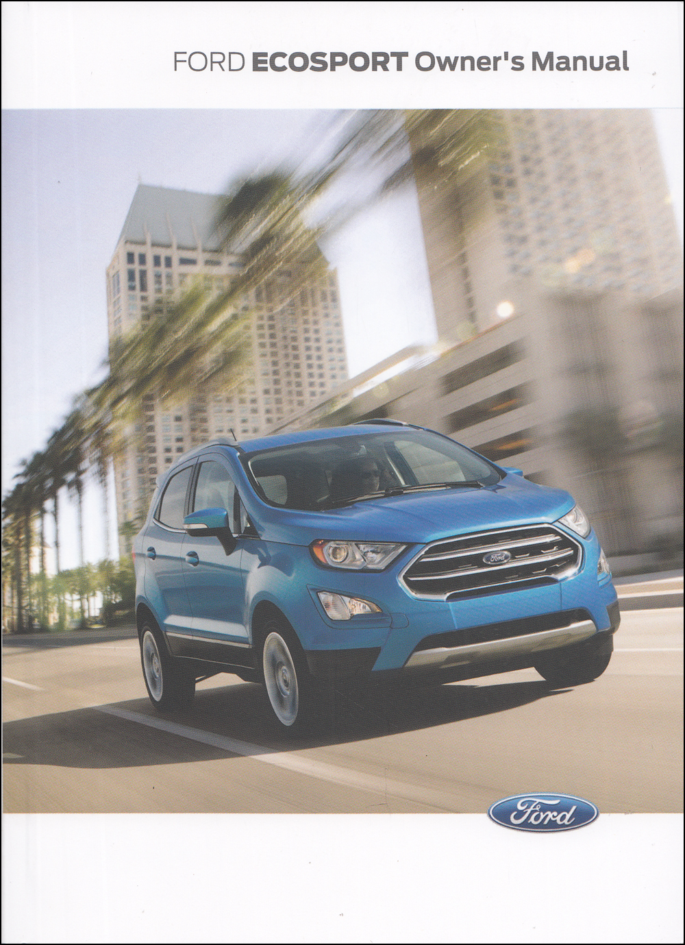 2019 Ford EcoSport Owner's Manual Original