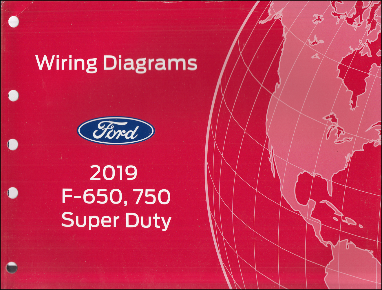 2019 Ford F-650 and F-750 Super Duty Truck Wiring Diagram Manual Original