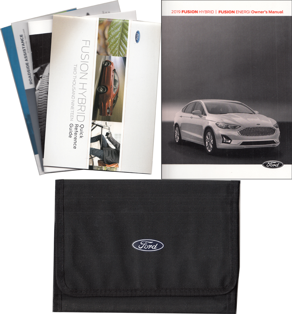 2019 Ford Fusion Hybrid and Energi Owner's Manual Package with Case Original
