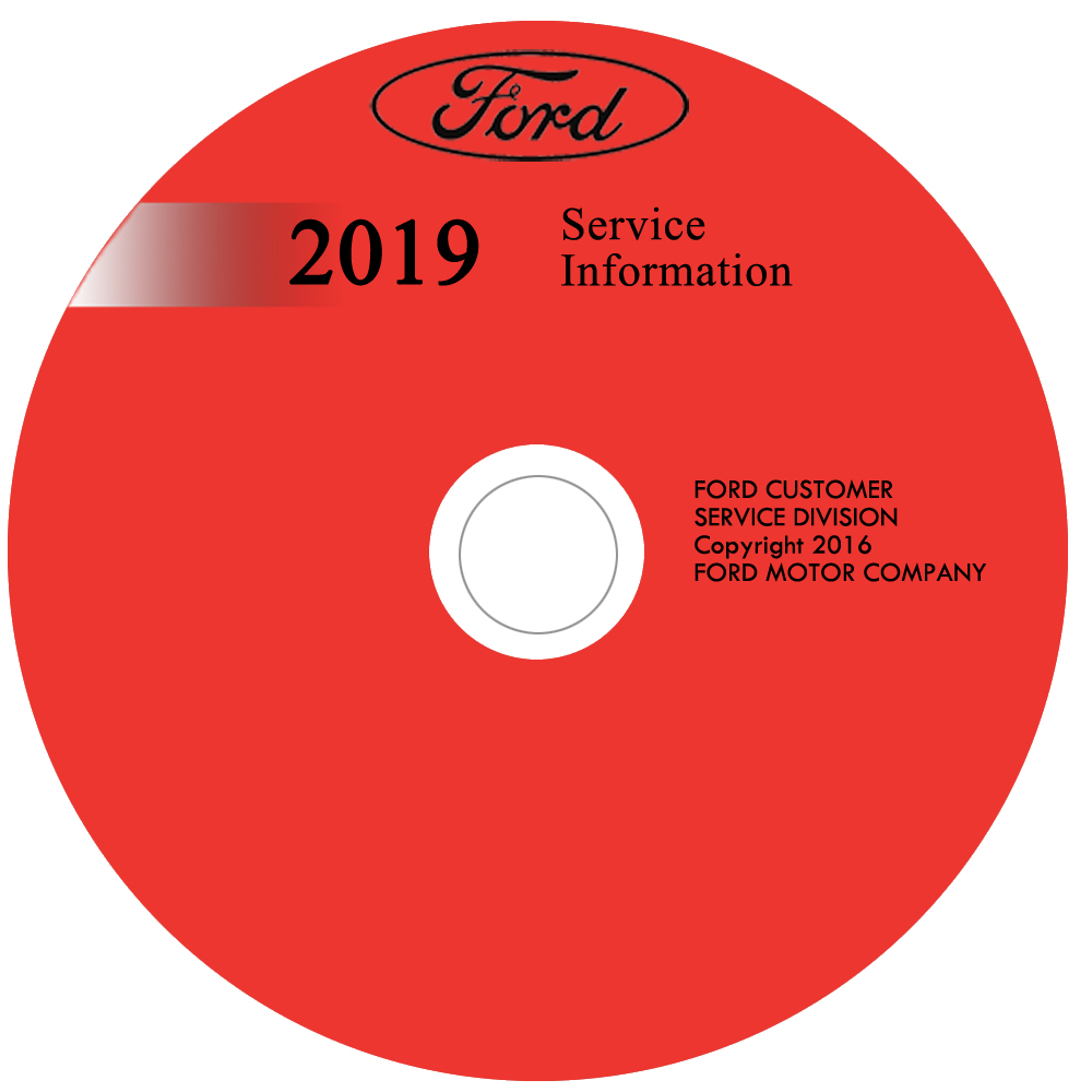2019 Ford Mustang Repair Shop Manual on CD-ROM Original