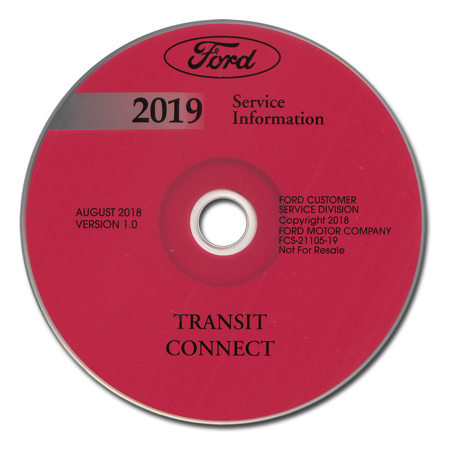 2019 Ford Transit Connect Repair Shop Manual on CD-ROM Original