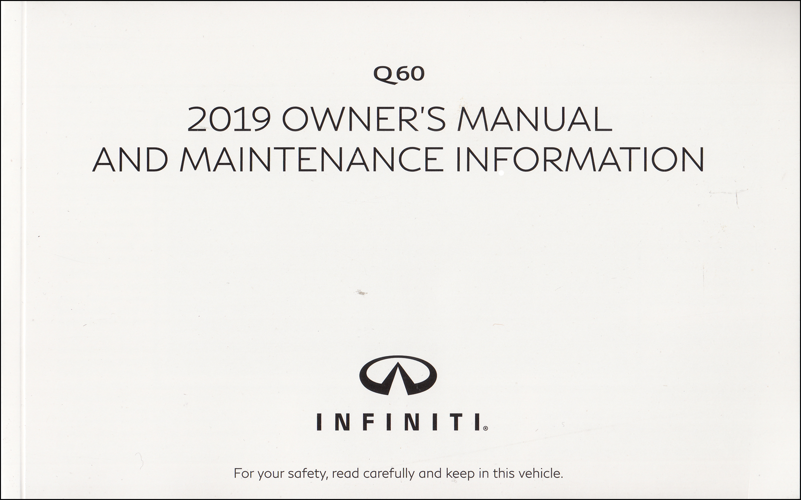2019 Infiniti Q60 Owner's Manual Original