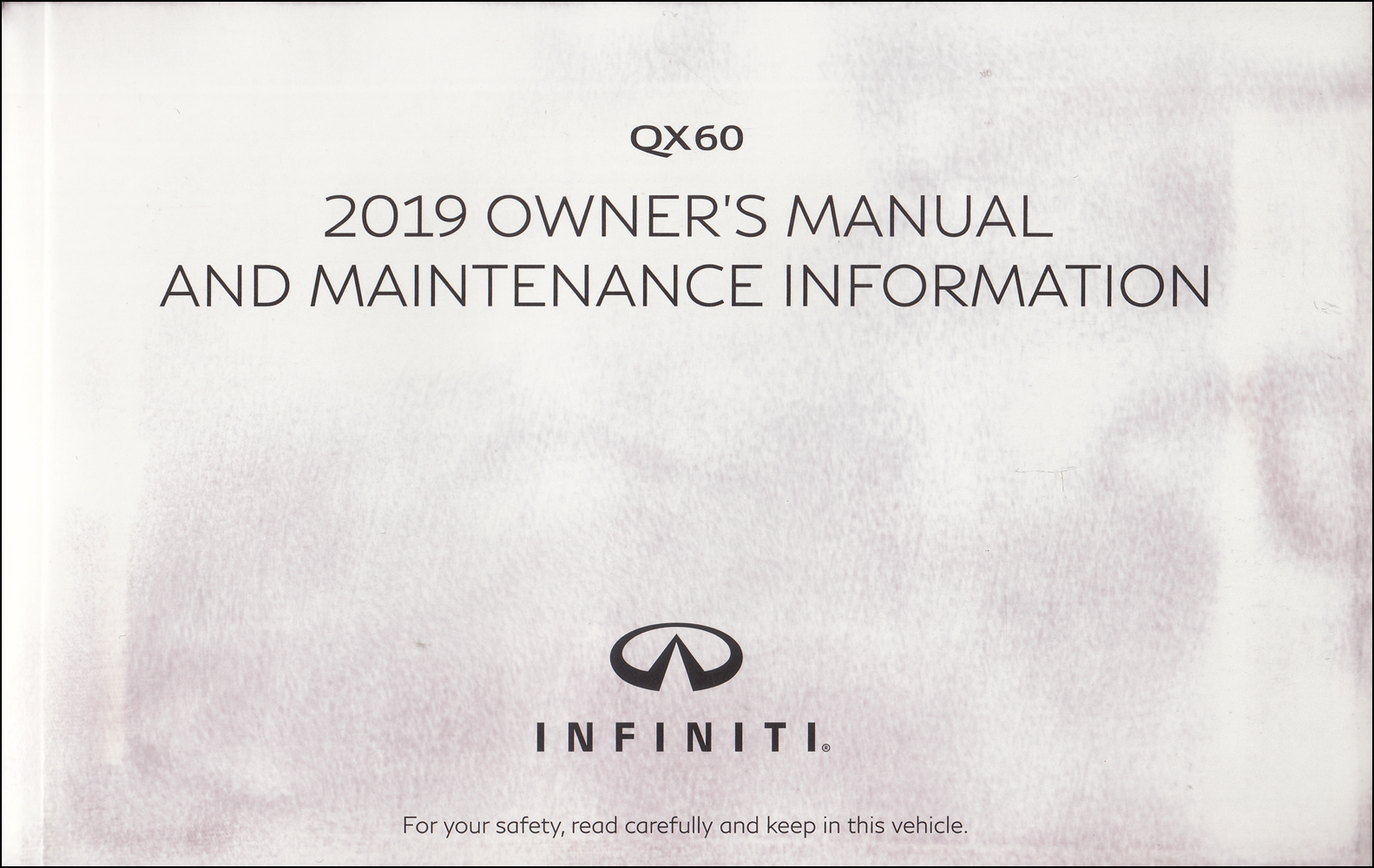 2019 Infiniti QX60 Owner's Manual Original