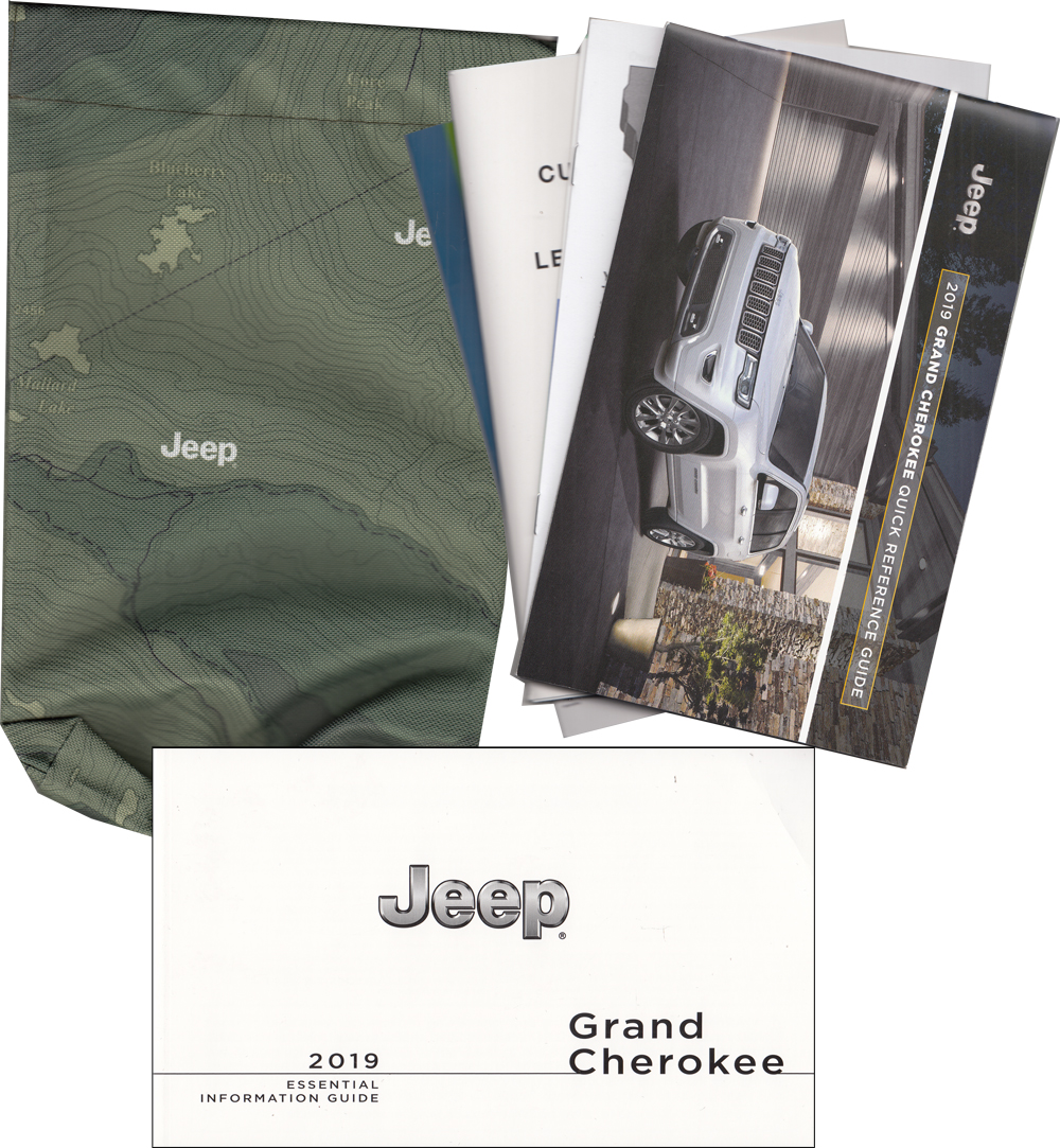 2019 Jeep Grand Cherokee Owners Manual Essential Information Guide Package Original