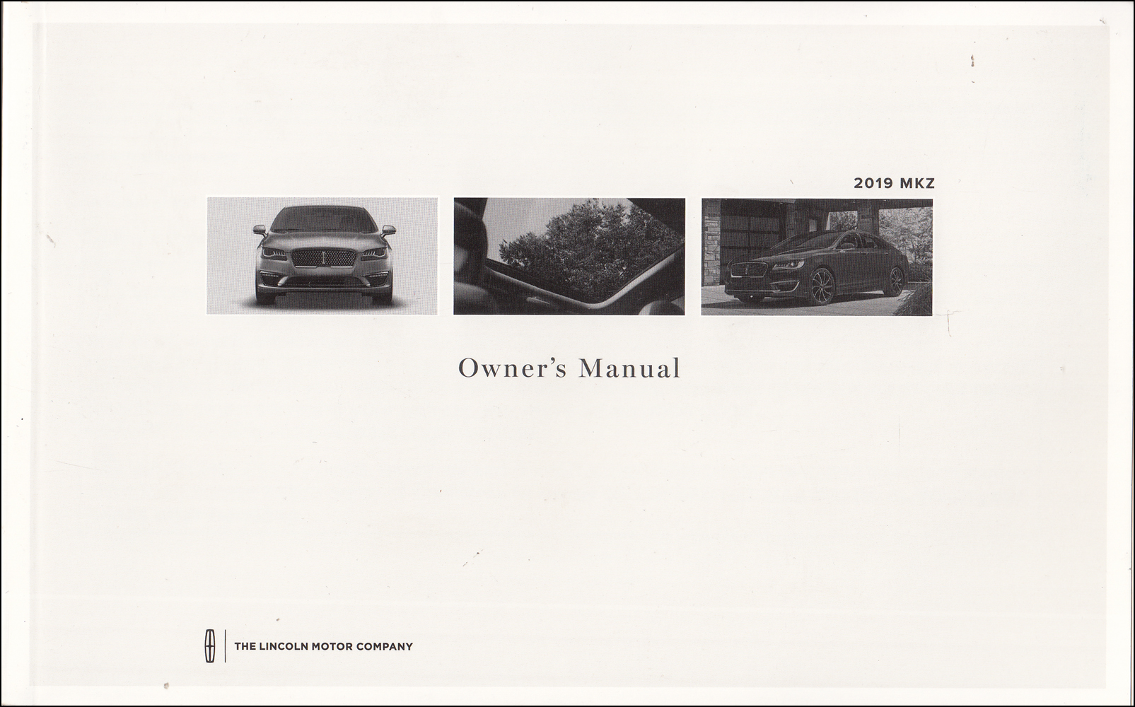 2019 Lincoln MKZ Owner's Manual Original - Gas