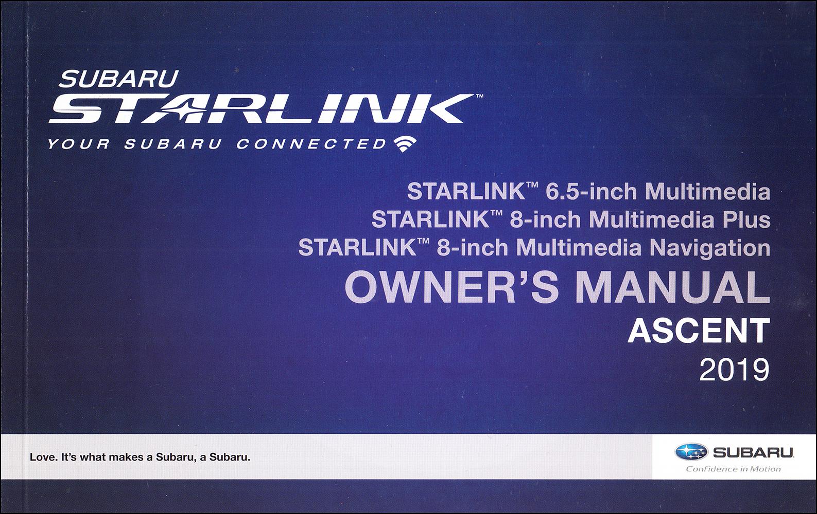 2019 Subaru Ascent Starlink Navigation & Multimedia System Owner's Manual Original