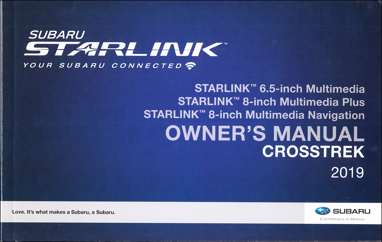2019 Subaru Crosstrek Gas Starlink Navigation & Multimedia System Owner's Manual Original