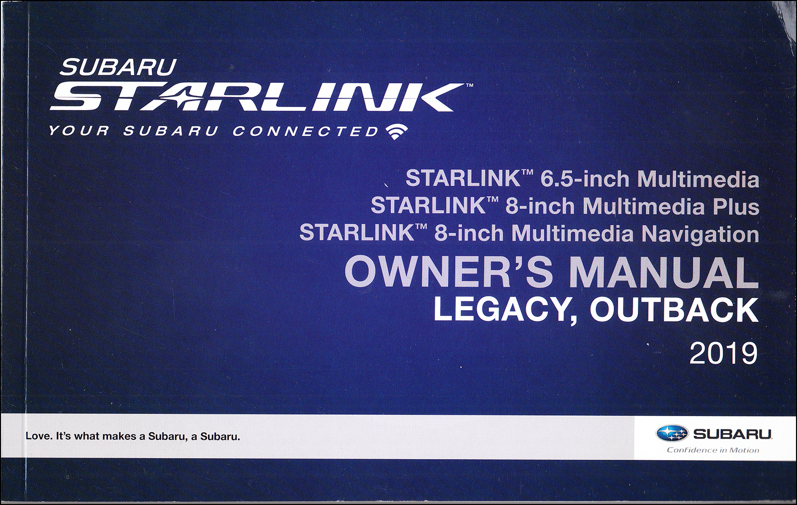 2019 Subaru Legacy / Outback Starlink Navigation & Multimedia System Owner's Manual Original