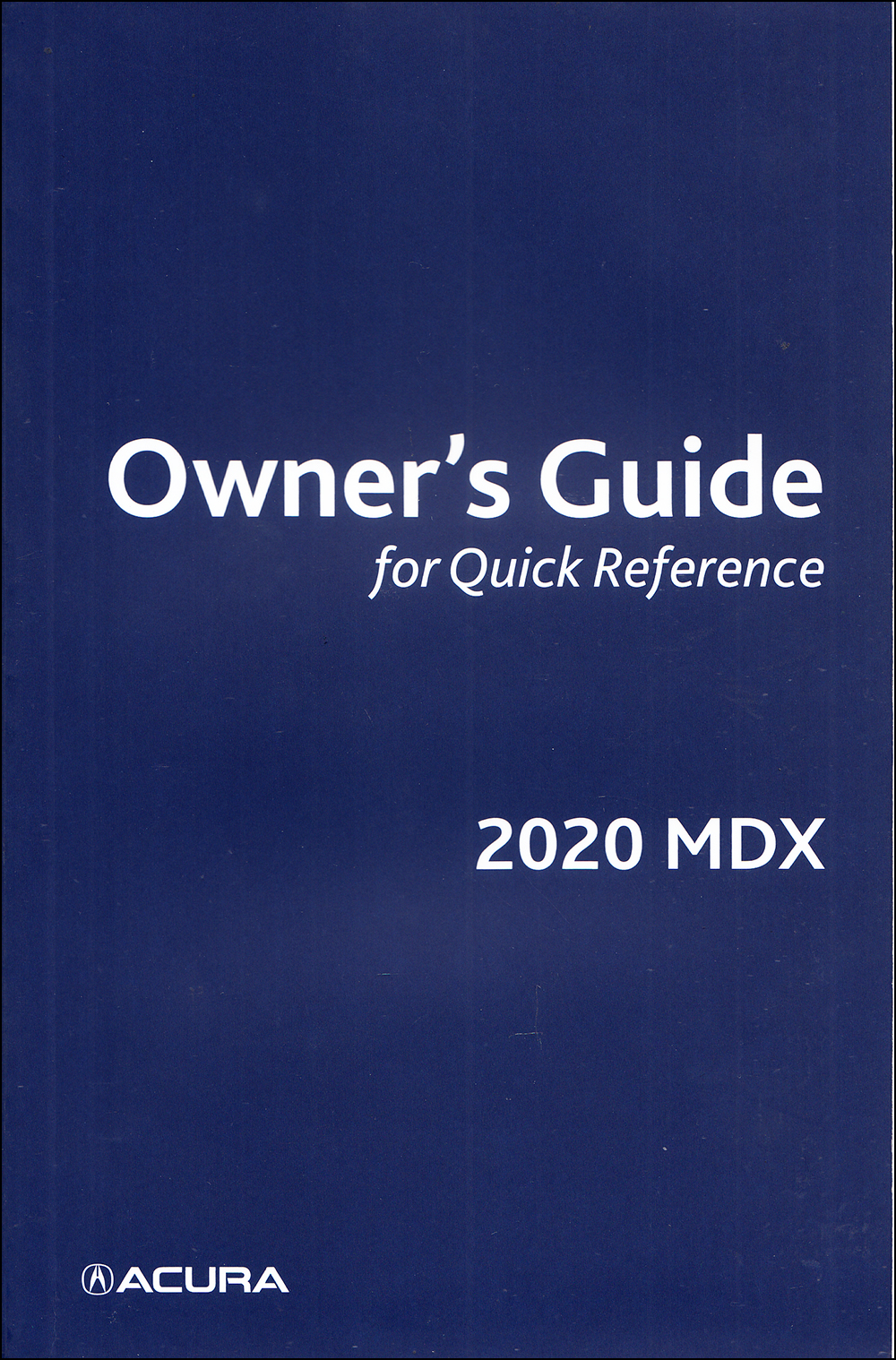 2020 Acura MDX Owner's Guide Manual Original Gas