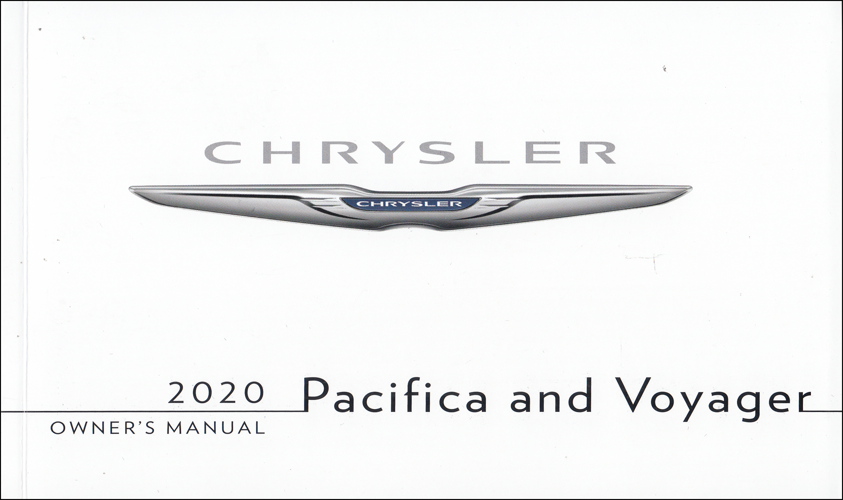 2020 Chrysler Pacifica & Voyager User Guide Owner's Manual Original