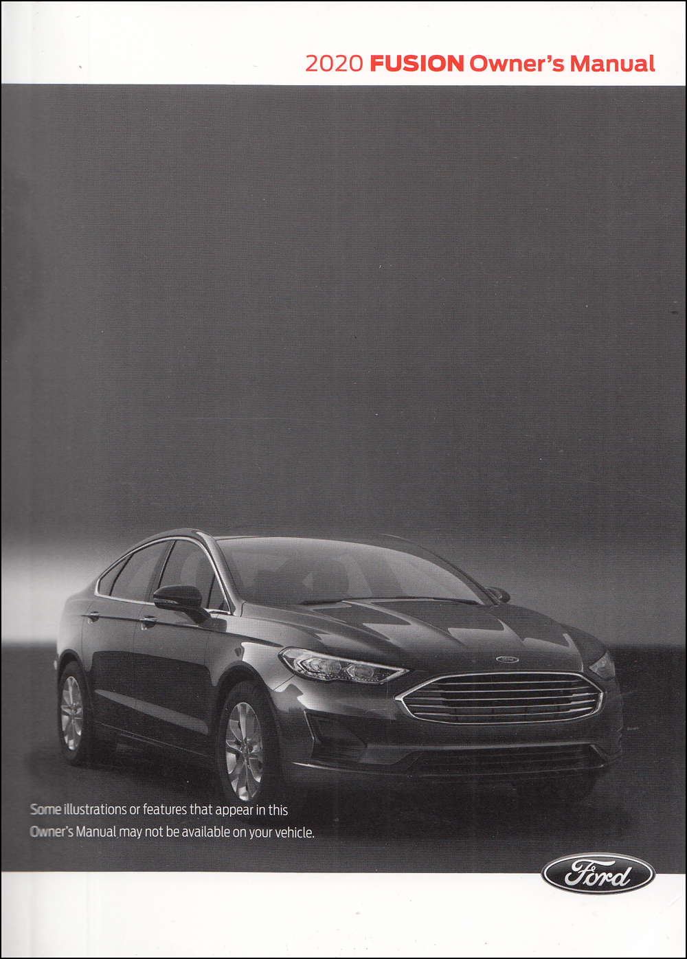 2020 Ford Fusion Owner's Manual Original Gas
