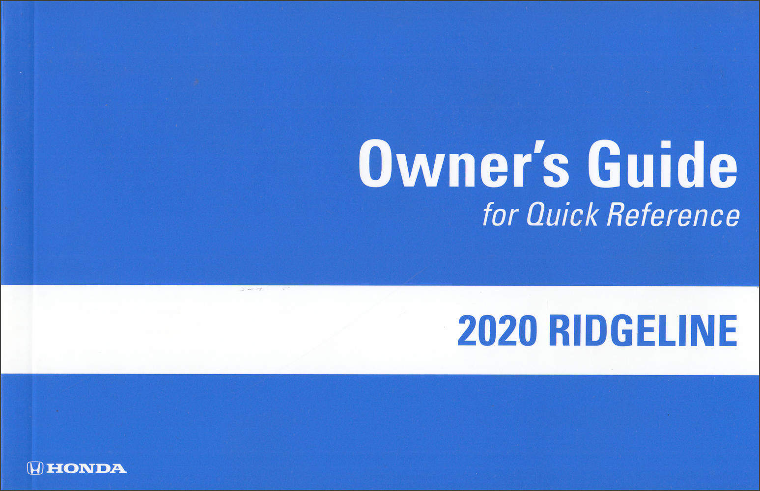 2020 Honda Ridgeline Owner's Guide Original