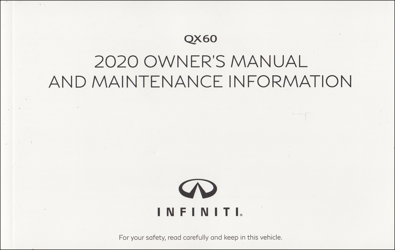 2020 Infiniti QX60 Owner's Manual Original