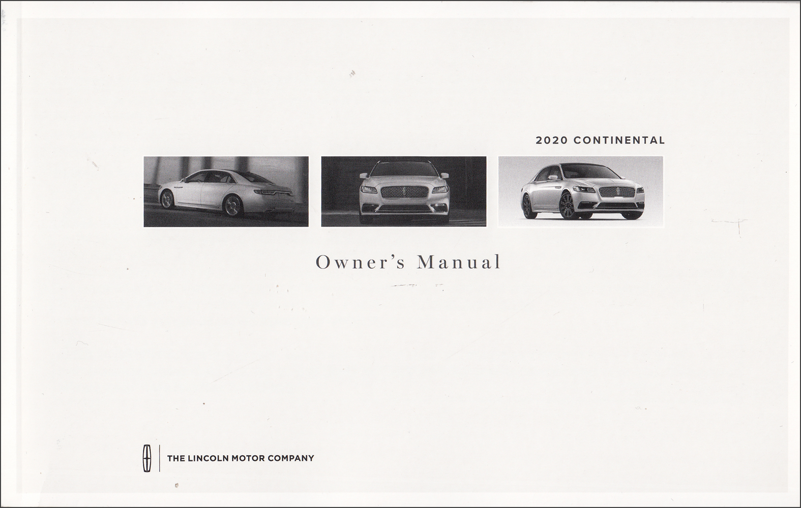 2020 Lincoln Continental Owner's Manual Original