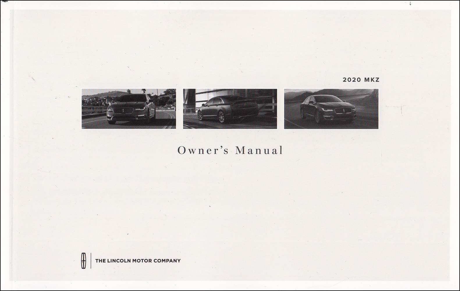 2020 Lincoln MKZ Owner's Manual Original - Gas