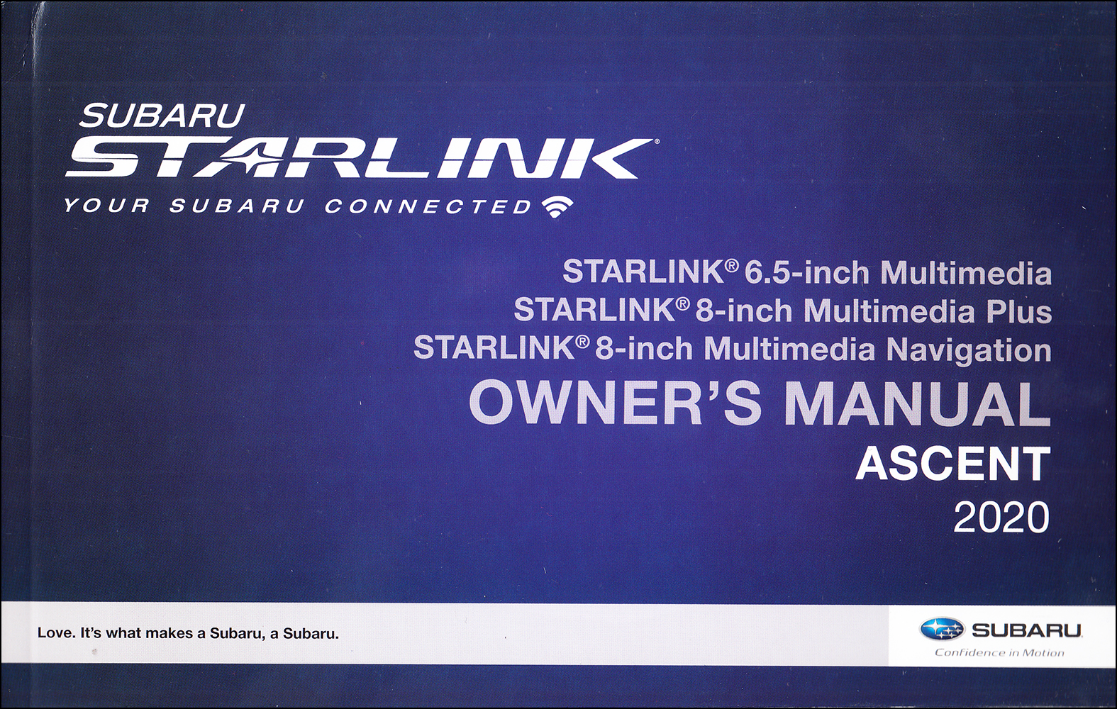 2020 Subaru Ascent Starlink Navigation & Multimedia System Owner's Manual Original